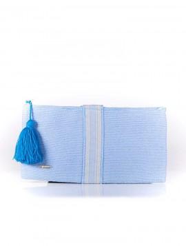 Cartera Wayuu Azul con Borla Azul Klein